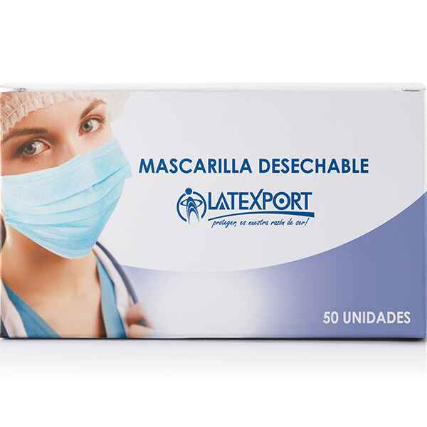 Mascarilla Desechable 3 capas / Empaque a granel