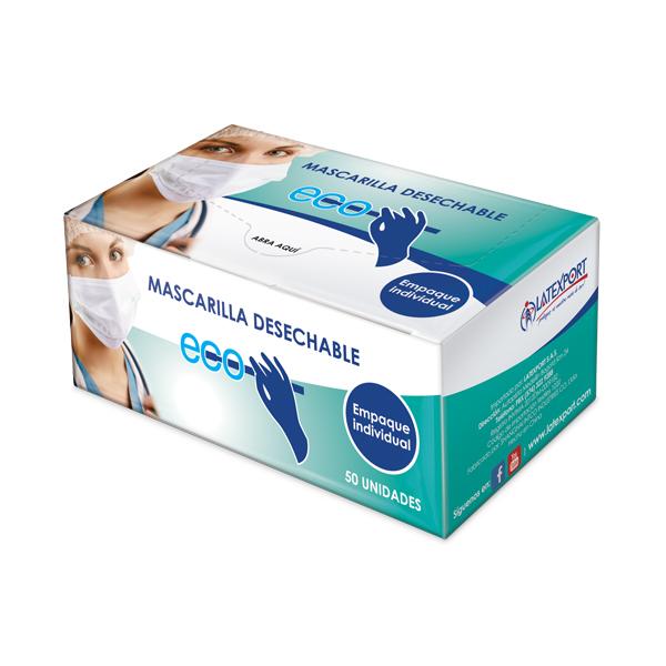 Mascarilla Desechable 3 capas / Empaque Individual