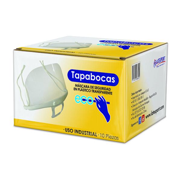 Tapabocas Plástico / Antiempañante por un lado